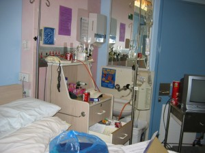 My Original room before I got kicked out by the Chemo Kid.